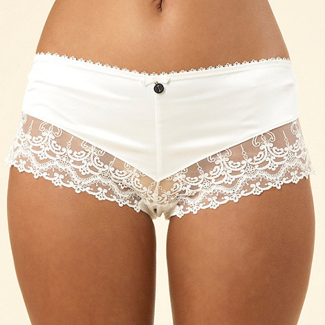 J by Jasper Conran - Designer ivory embroidery and diamante shorts