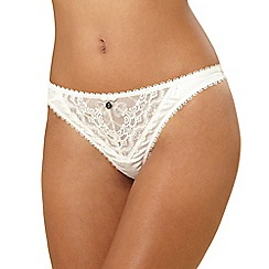 J by Jasper Conran - Ivory diamante and embroidered thong