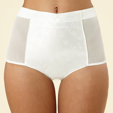 Reger by Janet Reger - Ivory high waisted mesh briefs