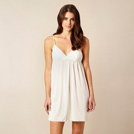 B by Ted Baker - Ivory frill trim chemise