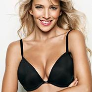 Black 'The One' plunge bra