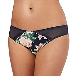 B by Ted Baker - Navy blue opulent bloom print hipster briefs