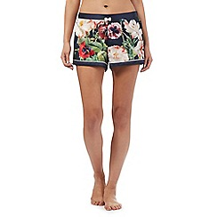 B by Ted Baker - Navy bloom print pyjama shorts