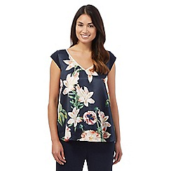 B by Ted Baker - Navy bloom pyjama top