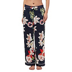 B by Ted Baker - Navy bloom print pyjama bottoms