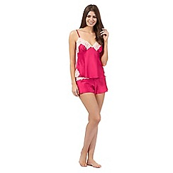 B by Ted Baker - Pink lace cami and shorts pyjama set
