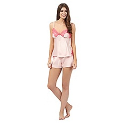 B by Ted Baker - Pale pink lace cami and shorts pyjama set