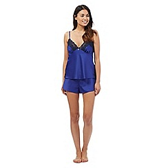 B by Ted Baker - Navy lace cami and shorts pyjama set