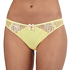 Floozie by Frost French - Pale yellow lace mesh thong