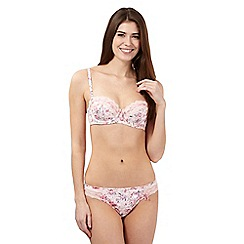 Floozie by Frost French - Pink floral ballerina print balcony bra