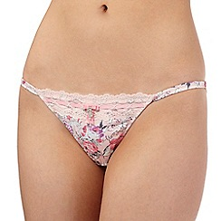 Floozie by Frost French - Pink floral ballerina print tanga briefs
