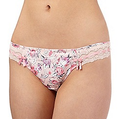 Floozie by Frost French - Pink floral ballerina print thong