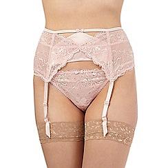 Reger by Janet Reger - Pink studded lace suspender