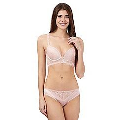 Reger by Janet Reger - Pink studded lace longline bra