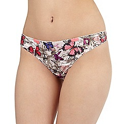 B by Ted Baker - Pink butterfly thong