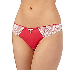 B by Ted Baker - Pink floral lace thong