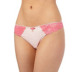 B by Ted Baker - Peach floral lace thong