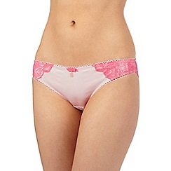 B by Ted Baker - Peach floral lace Brazilian briefs