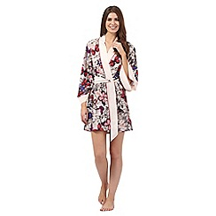 B by Ted Baker - Pink butterfly print kimono dressing gown