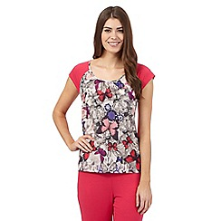 B by Ted Baker - Pink butterfly print short sleeved pyjama top