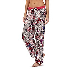 B by Ted Baker - Pink butterfly print pyjama bottoms