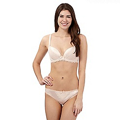 Reger by Janet Reger - Cream scalloped lace trim plunge bra