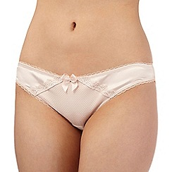 Reger by Janet Reger - Cream scalloped lace trim Brazilian briefs