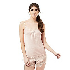 Nine by Savannah Miller - Pale pink vintage style luxury hammered satin camisole