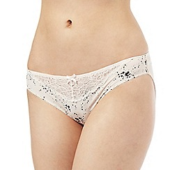 Nine by Savannah Miller - Pale pink star print luxury satin hipster briefs