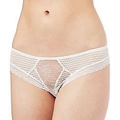 Nine by Savannah Miller - Cream lace Brazilian briefs