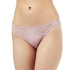 Nine by Savannah Miller - Pale pink bonded lace thong