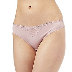 Nine by Savannah Miller - Pale pink bonded lace Brazilian briefs