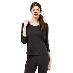 Nine by Savannah Miller - Black 3/4 length sleeve pyjama top