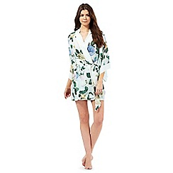 B by Ted Baker - Light green rose print kimono