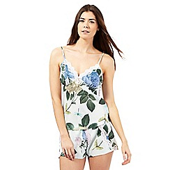 B by Ted Baker - Light green rose print pyjama cami top