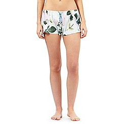 B by Ted Baker - Light green rose print pyjama shorts