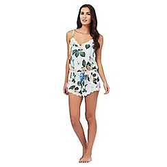 B by Ted Baker - Light green rose print playsuit