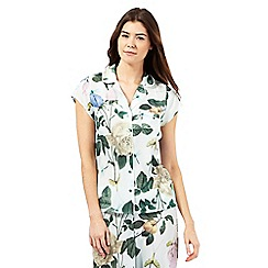 B by Ted Baker - Light green rose print pyjama shirt