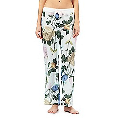 B by Ted Baker - Light green rose print pyjama bottoms