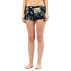 B by Ted Baker - Navy rose print pyjama shorts