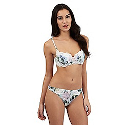 B by Ted Baker - Light green floral rose balcony bra