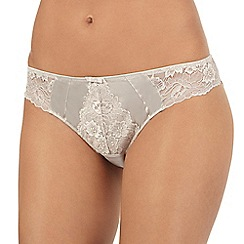 Reger by Janet Reger - Taupe floral lace Brazilian briefs
