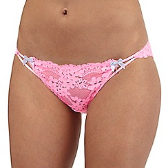 Floozie by Frost French - Pink lace Brazilian briefs