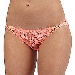 Floozie by Frost French - Orange lace Brazilian briefs