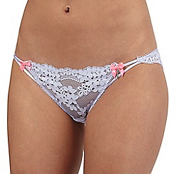 Floozie by Frost French - Lilac lace Brazilian briefs