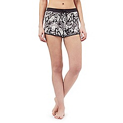 Nine by Savannah Miller - Grey snakeskin print luxury hammered satin shorts