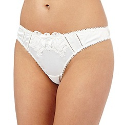 Reger by Janet Reger - Ivory satin lace thong