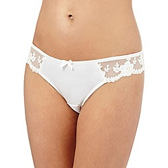 Reger by Janet Reger - Ivory mesh floral lace shorts