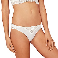 Reger by Janet Reger - Ivory lace Brazilian briefs