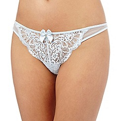Reger by Janet Reger - Light blue lace diamante thong